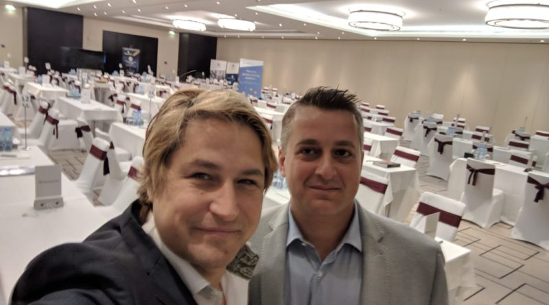 David Drake, author, and Coinnect's CEO Massimiliano Rijllo