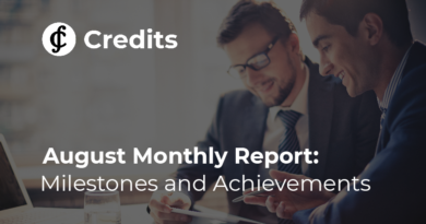 Credits Monthly Report, August 2019