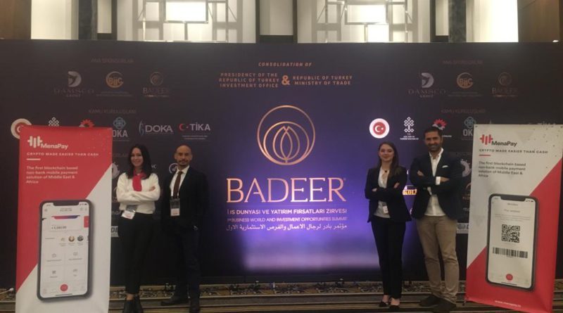Menapay have met 150 foreign investors from 50 countries at the BADEER I. Business World and Investment Opportunities Summit 2018''